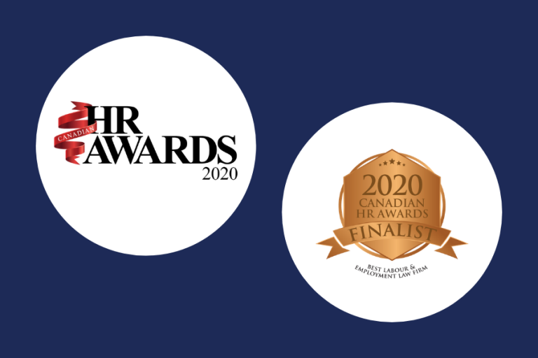 Rudner Law Selected As Finalist In 2020 Canadian HR Awards